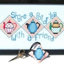 Share Tea and Tea Scissor Fob