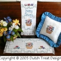 3 For Spring  Table Runner & Bell Pull