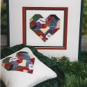 Christmas Crazy Quilt Heart