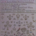 Antique Spring Sampler Ann Hobbs 1834